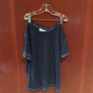 Blue Abercrombie and Fitch see through top